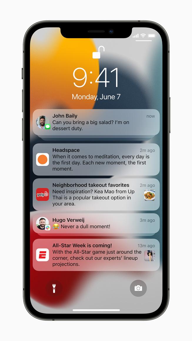 Уведомления iOS15