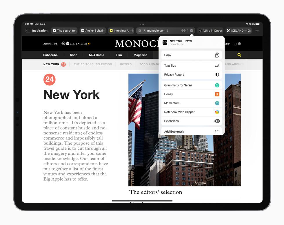 iPadOS15 safari Новости