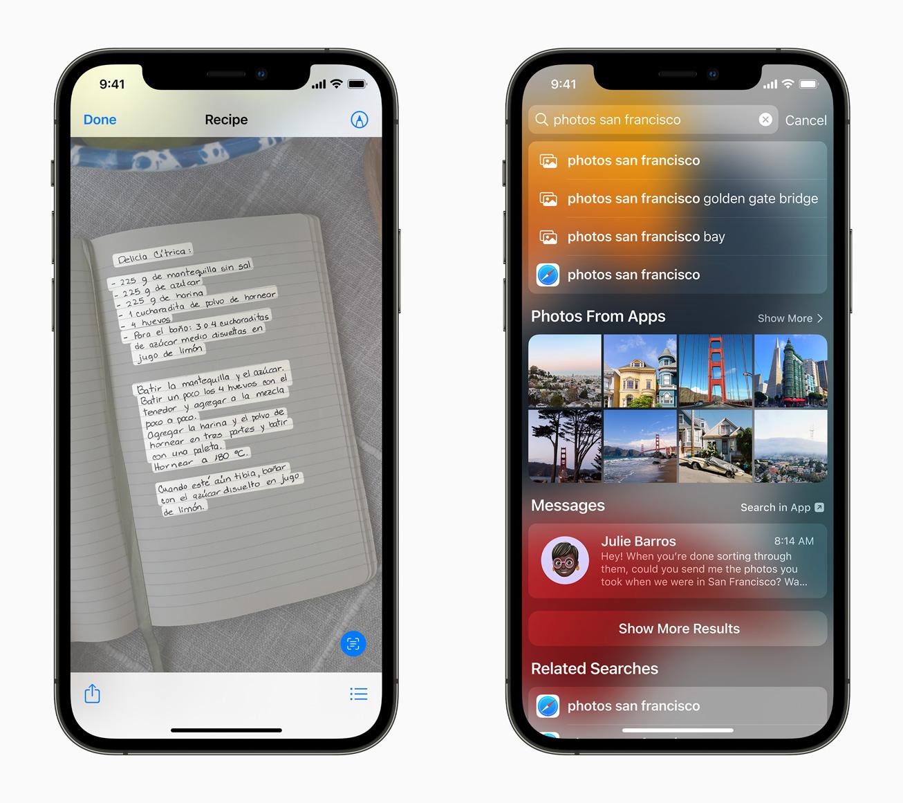 Поиск iOS15